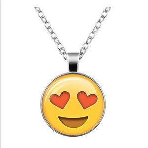 Jewelry - Love Struck 😍 Emoji Glass & Silver Necklace